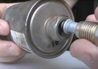 Замена топливного фильтра ВАЗ 2107 инжектор своими руками